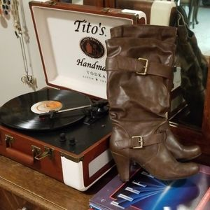 SALE 2/$20 Brown boots with adjustable buckles